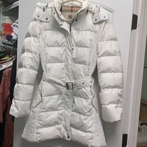 Burberry White Down Jacket